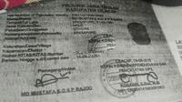 Fotokopi dokumen WNA Singapura pelaku kekerasan terhadap anak dan istri di Majenang, Cilacap. (Liputan6.com/Muhamad Ridlo)