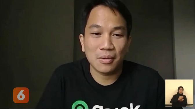Co-CEO Gojek Andre Soelistyo saat menjadi pembicara dalam Ignite Gerakan Nasional 1000 Startup Digital (Liputan6.com/ Agustin Setyo W)
