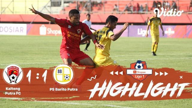 Laga lanjutan #shopeeliga1, #KaltengPutra vs #PsBaritoPutera pada hari Sabtu sore (05/10/2019) berakhir  dengan skor 1-1.