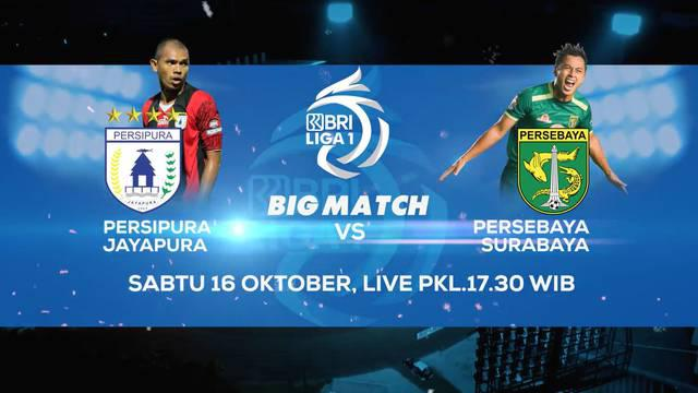 Berita video teaser big match BRI Liga 1 2021/2022 antara Persipura Jayapura melawan Persebaya Surabaya yang akan ditayangkan di Indosiar dan Vidio pada Sabtu (16/10/2021) pukul 18.15 WIB.