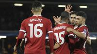 Liverpool menempati peringkat ketiga klasemen penghasil gol terbanyak dengan torehan 21 gol hingga pekan ke-11 Premier League 2017-2018.  (AP/Rui Vieira)