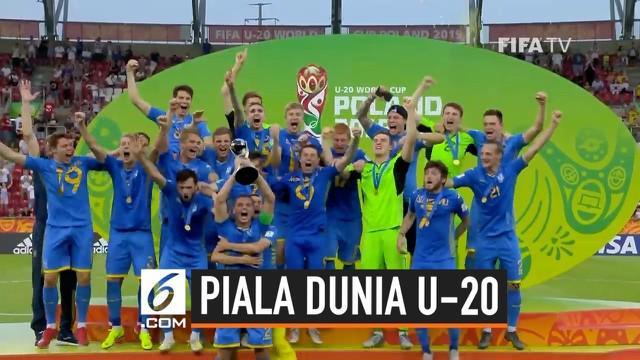 Ukraina muncul sebagai juara baru Piala Dunia U-20. Dalam partai final Piala Dunia U-20 2019, negara di kawasan Eropa Timur itu membungkam wakil Asia, Korea Selatan, dengan skor 3-1.