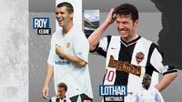 Ilustrasi - Gelandang Bertahan Terbaik: Didier Deschamps, Sergio Busquets, Roy Keane, Lothar Matthaus, Claude Makalele (Bola.com/Adreanus Titus)