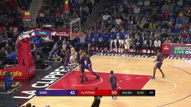 Berita video game recap NBA 2017-2018 antara LA Clippers melawan Phoenix Suns dengan skor 108-95.