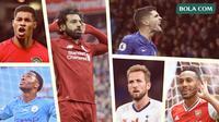 Marcus Rashford, Raheem Sterling, Mohamed Salah, Harry Kane, Christian Pulisic, Aubameyang. (Bola.com/Dody Iryawan)