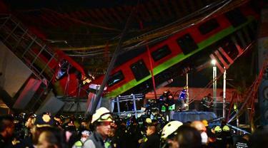 Jembatan Layang Metro di Meksiko Ambruk