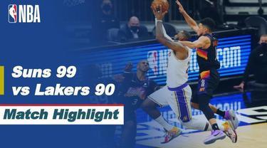 Berita video highlights game 1 babak 1 NBA Playoffs 2021 wilayah barat, di mana Phoenix Suns menang 99-90 atas LA Lakers, Senin (24/5/2021) pagi hari WIB.