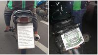 Potret Nyeleneh Plat Motor Driver Ojek Online Ini Malah Bikin Bingung (sumber:Instagram/newdramaojol.id)
