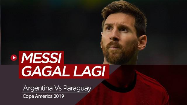 Berita Video Highlights Copa America 2019, Argentina Vs Paraguay 1-1