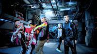 Big Bang terlihat muncul di kawasan Los Angeles, Amerika Serikat, dikabarkan sibuk syuting videoklip terbarunya.
