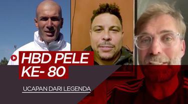 Berita video ucapan ulang tahun dari berbagai legenda dunia untuk Pele, salah satunya Ronaldo dan Zinedine Zidane
