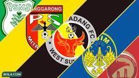 Trivia - Logo Klub PSMS, Mitra Kukar, Semen Padang, PSIM, Sriwijaya FC (Bola.com/Adreanus Titus)
