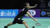 Penampilan Gregoria Mariska Tunjung di semifinal PBSI Home Tournament, Jumat (24/7/2020). (PBSI)