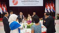 Wakil Menteri Luar Negeri (Wamenlu) Korut, Ri Kil Song menghadiri acara HUT ke-71 RI. (Dokumentasi KBRI Pyongyang)
