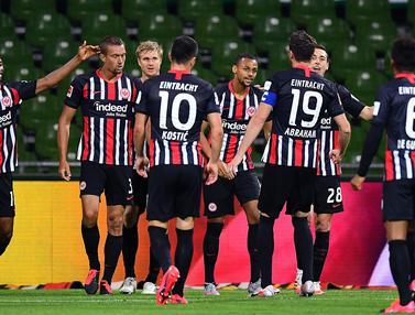 Eintracht Frankfurt Sukses Bungkam Werder Bremen 3-0