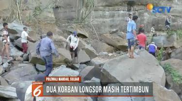 BPBD Sulawesi Barat kesulitan mengerahkan alat berat karena tidak ada akses jalan yang dapat menembus ke lokasi bencana.