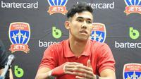 Ryuji Utomo berjanji akan tampil mati-matian demi membantu Persija Jakarta mengalahkan Newcastle Jets di LCA 2019. (dok. Persija Jakarta)
