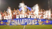 PSM Makassar menjuara Piala Indonesia setelah mengalahkan Persija Jakarta dengan agregat 2-1. (Bola.com/Abdi Satria)