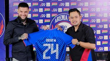 6 Potret Diego Michiels saat Latihan Bersama Tim Arema FC, Perkuat Bek Kanan