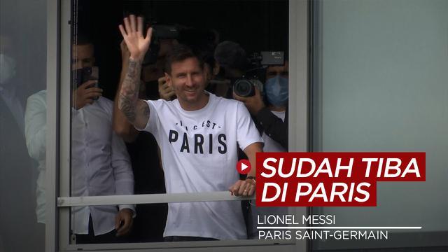 Cover Video Lionel Messi Tiba di Paris untuk Menandatangani Kontrak dengan PSG