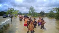 Sejumlah sekolah di Kabupaten Merangin meliburkan siswa karena banjir