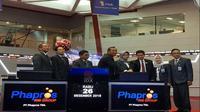 PT Phapros Tbk mencatatkan saham perdana di BEI pada pekan terakhir Desember 2018, Rabu (26/12/2018). (Foto:Liputan6.com/Bawono Y)