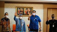 Prosesi penandatanganan MoU antara Pemprov Jateng dengan manajemen klub PSIS Semarang, perihal penggunaan Stadion Jatidiri. (Dok PSIS Semarang)