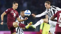Pada pertengahan babak pertama, Torino mampu imbangi permainan bahkan beberapa kali mengancam daerah pertahanan Juventus. Akhirnya, skor kacamata bertahan hingga waktu turun minum. (LaPresse via AP/Spada)