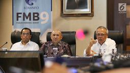 Menteri PUPR Basuki Hadimuljono saat menjelaskan hasil Mudik 2017 di Jakarta, Kamis (6/7). Dalam keterangan kepada wartawan pengelolaan mudik tahun 2017, Pemerintah menilai sangat berhasil (Liputan6.com/Angga Yuniar)