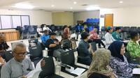 """Diskusi Betawi Kita soal """"Potret Betawi dalam Tulisan"""" di Taman Ismail Marzuki, Minggu, 23 Februari 2020."""