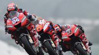 Rencananya petinggi Ducati akan mengumumkan susunan pembalap untuk musim 2020 setelah MotoGP Barcelona. (AFP/JEAN-FRANCOIS MONIER)