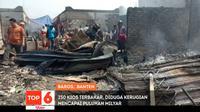 250 Kios Terbakar, Diduga Kerugian Mencapai Puluhan Milyar. sumberfoto: SCTV