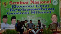 Mantan Ketua Umum PAN Soetrisno Bachir menyatakan saat ini 56 persen warga muhammadiyah memilih Jokowi untuk kembali menjadi Presiden RI periode kedua (Liputan6.com/Yuliardi Hardjo)