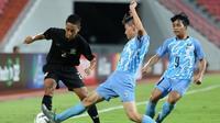 Thailand mengalahkan Kepulauan Mariana Utara 10-0 pada laga lanjutan Grup G kualifikasi Piala Asia U-16 2018 di Stadion Rajamangala, Bangkok, Senin (18/9/2017). (Bola.com/AFC)