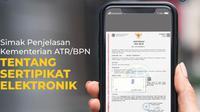 Sertifikat Tanah Elektronik. Dok Kementerian ATR
