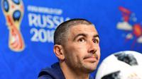 Kapten Timnas Serbia, Aleksandar Kolarov menegaskan timnya siap mengarungi persaingan di Grup E Piala Dunia 2018. (EMMANUEL DUNAND / AFP)