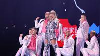 Taylor Swift diundang merayakan Harbolnas di Shanghai oleh Alibaba. Dok: Twitter @TSwiftNZ