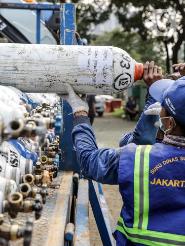 FOTO: Melihat Posko Rescue Oxygen DKI Jakarta