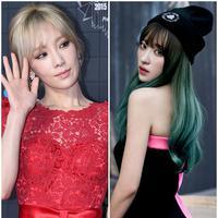 Taeyeon SNSD dan Hani EXID (via koreaboo.com)