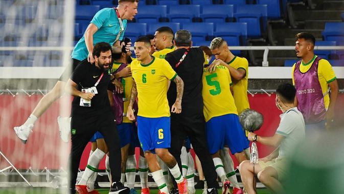 hasil sepak bola olimpiade tokyo 2020: kerja keras bungkam spanyol, brasil raih medali emas
