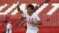 Ferdinand Sinaga mencetak tiga gol saat PSM Makassar mengalahkan Lalenok United pada play-off Piala AFC 2020 di Stadion I Wayan Dipta, Gianyar. (Bola.com/Abdi Satria)