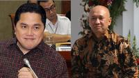 Menteri BUMN, Erick Thohir dan Menteri Koperasi UKM, Teten Masduki.