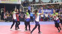 Kharisma Bandung akan menghadapi juara bertahan Bank Jatim pada laga semifinal Livoli 2019 Divisi Utama di GOR Dimyati, Tangerang, Banten, Sabtu (29/10/2019). (foto: PBVSI)