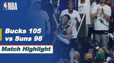 Berita video highlights kemenangan pada gim keenam Milwaukee Bucks atas Phoenix Suns yang mengantarkan mereka menjadi juara NBA 2021, Rabu (21/7/2021) pagi hari WIB.