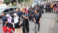 Parade digelar secara estafet melintasi 10 kota di Pulau Jawa. (Liputan6.com/Reza Kuncoro)