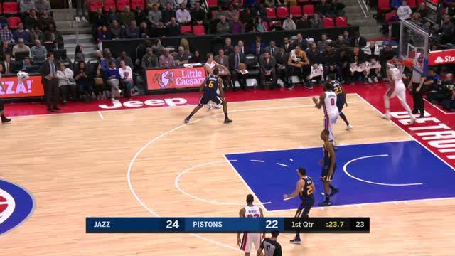 Berita video game recap NBA 2017-2018 antara Utah Jazz melawan Detroit Pistons dengan skor 98-95.