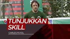 Berita Video Puyol Tunjukkan Skill Bertahan saat Bermain Futsal di Jakarta