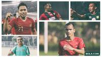 Trivia - Pemain Ferinando Pahabol, Irfan Jaya, Todd Rivaldo Ferre, Andik Vermansah, Riko Simanjuntak (Bola.com/Adreanus Titus)