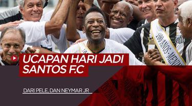 Berita Video Ucapan Selamat Ulang Tahun Pele dan Neymar Jr untuk Santos