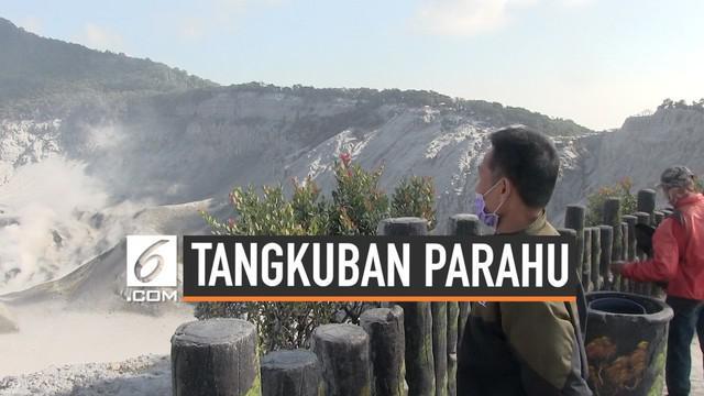 Lokasi wisata Tangkuban Parahu sudah dibuka untuk pengunjung hari Kamis (1/8). Meski sudah relatif aman, pengelola tetap imbau pengunjung untuk selalu waspada.
